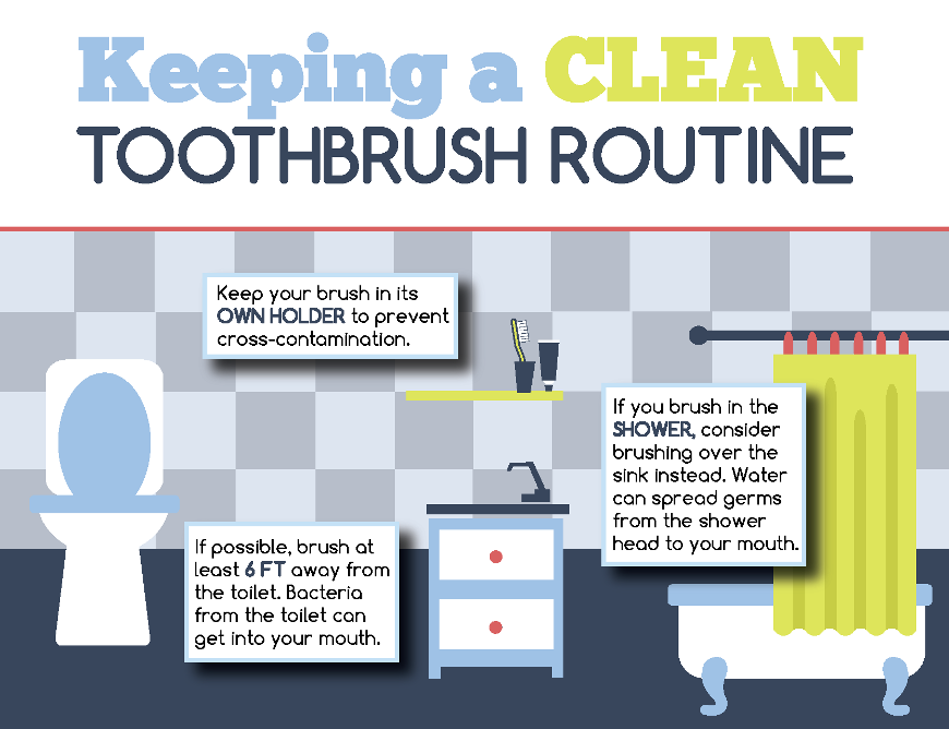 keeping a clean toothbrush routine infographic