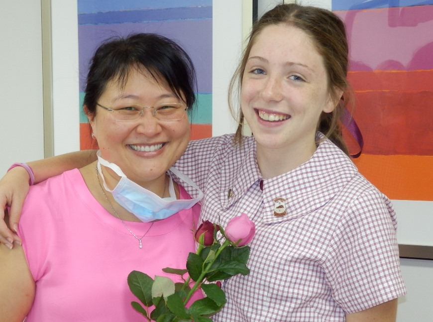 Dr Anna Chang with smiling patient