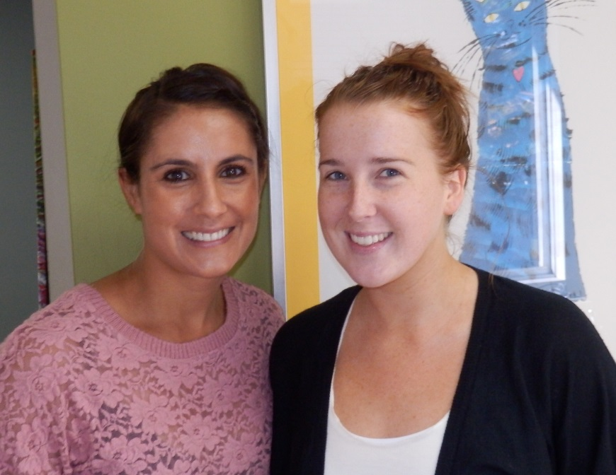 Dr Barker with smiling orthodontics patient after braces