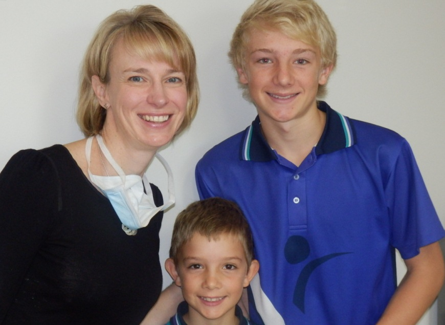 Teenage and young boy smile with Dr Prove of Ethos Orthodontics